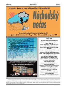 únor 2015 - Náchodský nečas