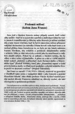 Prolomit mlćem (kołem Jana Franze)