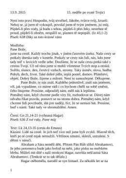 13.9. kázání L. Ridzoňové Cesta do Emaus a Hagar na poušti Lk 24