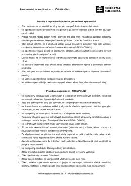 Provozovatel - FREESTYLE KOLBENKA