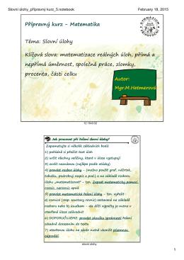 Slovní úlohy_přípravný kurz_5.notebook