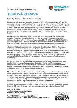 Výsledky literární soutěže Čertovské pohádky