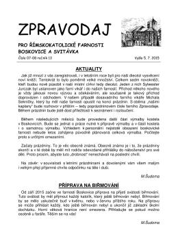 červenec-srpen - Farnosti Boskovice a Svitávka