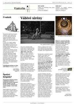 7. číslo časopisu Vlaštofka - Gymnázium Praha 5, Na Zatlance 11