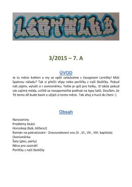 Časopis Lentilky 3/2015