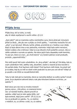 OKO - listopad 2015 - Slezská církev evangelická av Oldřichovice
