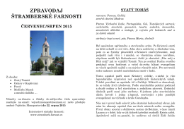 Červenec a srpen 2015 - Římskokatolická farnost Štramberk