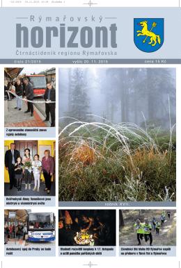 Rýmařovský horizont 21 - 2015 - Středisko volného času Rýmařov