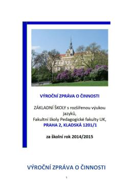 školní rok 2014/2015 - Základní škola Kladská