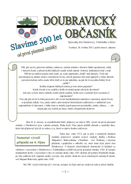 Doubravický občasník_speciál 500let