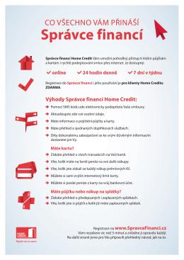Správce financí - Home Credit a.s.