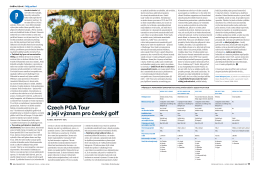 Czech PGA Tour a její význam pro český golf