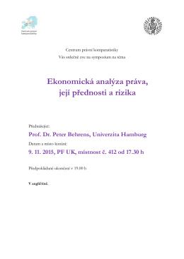 Ekonomická analýza práva, její přednosti a rizika