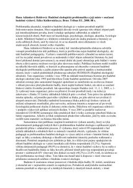 Hana Adámková Heidrová: Hudebně ekologická problematika a její