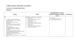 Vzdělávací oblast: Matematika a její aplikace Vyučovací předmět