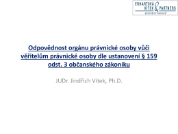 JUDr. JINDŘICH VÍTEK, Ph.D.