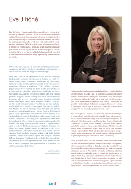 Eva Jiřičná Světoznámá britská architektka a