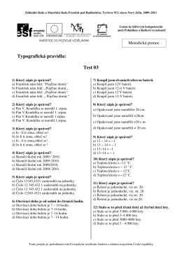 Test 03 - Základní škola Tyršova 913, Frenštát pod Radhoštěm