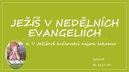 Evangelium + úkoly