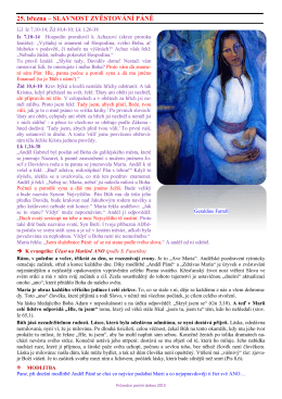 Středa (25.3.2015) - Farnost Malenovice