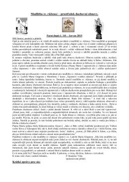 Farní dopis č. 141