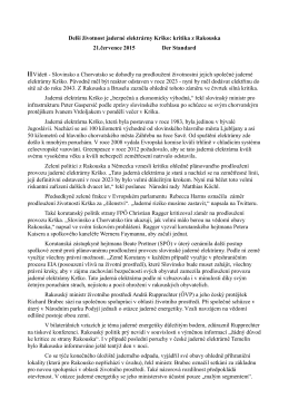 Jednání okolo jaderných elektráren a úložiště RAO (červenec 2015)