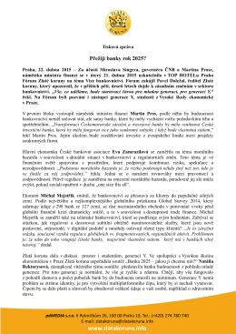 Tisková zpráva z 22. 4. 2015