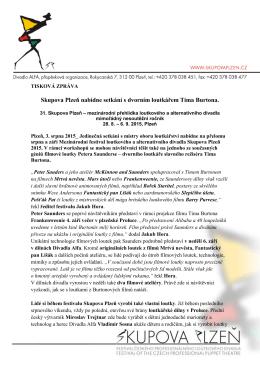 Skupova Plzeň nabídne setkání s dvorním loutkářem