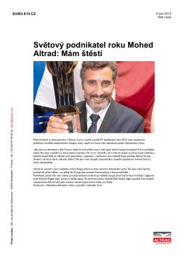 Sveˇtový podnikatel roku Mohed Altrad: Mám šteˇstí