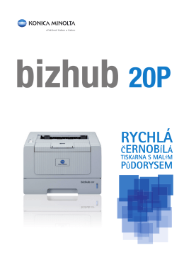 Brožura bizhub 20P, PDF