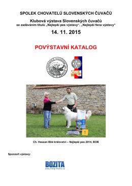 14. 11. 2015 povýstavní katalog - Spolek chovatelů slovenských