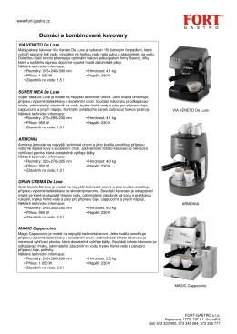 Domácí a kombinované kávovary - FORT