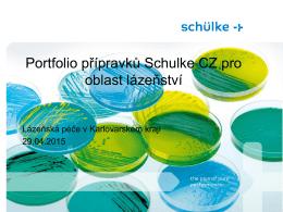 Přednáška: Portfolio přípravků Schulke CZ pro oblast lázeňství