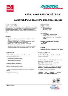 ADDINOL POLY GEAR PG 220, 320, 460, 680