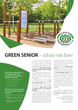 GREEN SENIOR – zdraví nás baví