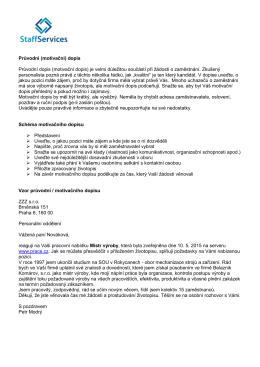 Vzor průvodního dopisu PDF