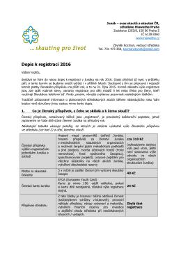 Dopis k registraci 2016 - Paráda & Vlčáci