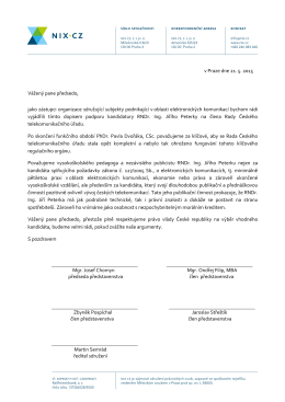 otevřený dopis