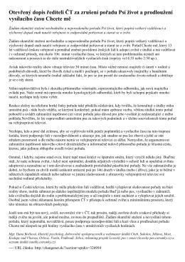 dopis přeformátovaný do formátu PDF