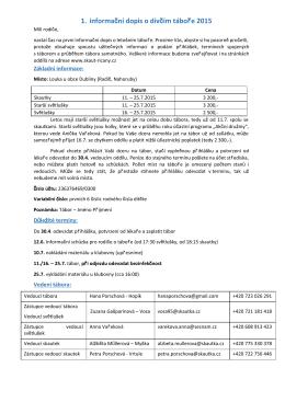 1. Informační dopis - 2. oddíl Dálava skautského střediska Lípa Říčany