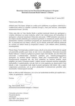 ve svém dopisu - Ostravská univerzita v Ostravě