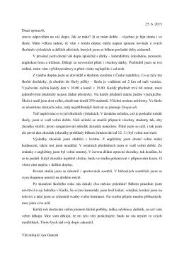 překlad dopisu