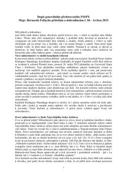 Dopis přátelům a dobrodincům č. 84