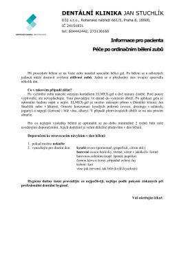 Moderní dopis - Dentální klinika Jan Stuchlík