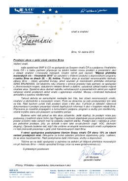 Vážení vinaři, - Svaz vinařů ČR
