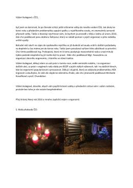 Dopis členům ke konci roku PF 2016