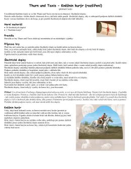 Thurn und Taxis - Kněžnin kurýr (rozšíření)