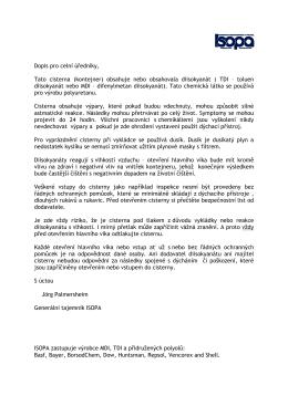 Dopis pro celní úredníky,