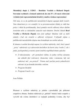 Metodický dopis č. 5/2015 – Rostislav Vorálek a Richard Dupal