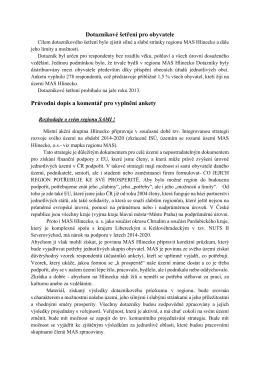 Dotazníkové šetření pro obyvatele Průvodní dopis a